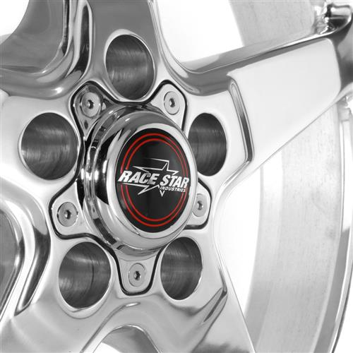 Race Star Mustang Drag Star Wheel - 18x5  - Polished - Direct Drill (05-17) 92-850145DP