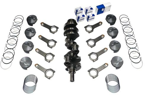 82-95 Mustang 331 Forged Stroker Kit, 4340 Forged H-Beam Rods, 4340 Forged Crank, .030 Forged Flat Top Pistons , Includes Rings & Bearings, Unbalanced