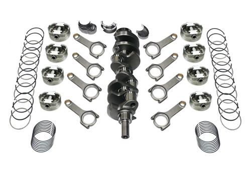 82-95 Mustang 393 Forged Stroker Kit, 4340 Forged H-Beam Rods, 4340 Forged Crank, .030 Forged Flat Top Pistons , Includes Rings & Bearings, Unbalanced
