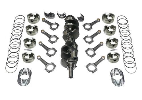 82-95 Mustang 347 Stroker Kit, I-Beam Rods, Cast Crank, .030 Forged Flat Top Pistons , Includes Rings & Bearings, Unbalanced