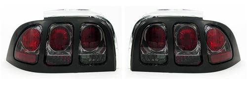 Mustang Smoked Euro Tail Lights (94-98)