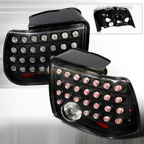Mustang Led Tail Lights Black  (99-04)