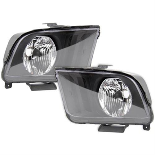SVE Mustang Replacement Headlights Black (05-09)