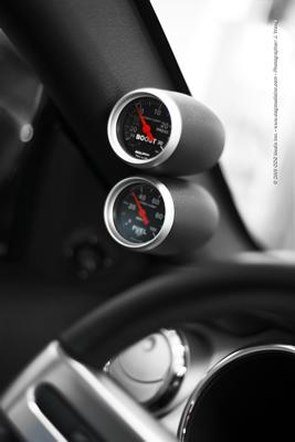 Mustang Dual Gauge Pillar Dark Charcoal (05-09) Coupe