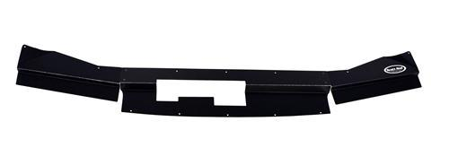 Scott Rod Mustang Radiator To Bumper Filler Cover Black Aluminum (79-86)