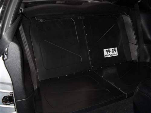 Scott Rod Mustang Aluminum Rear Seat Delete Black 94 04