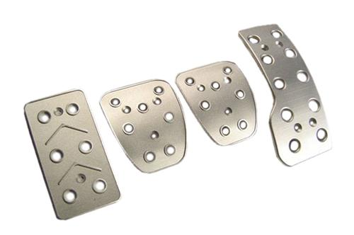 Mustang Manual Pedal Kit, 4pc Satin Billet Aluminum (79-04)