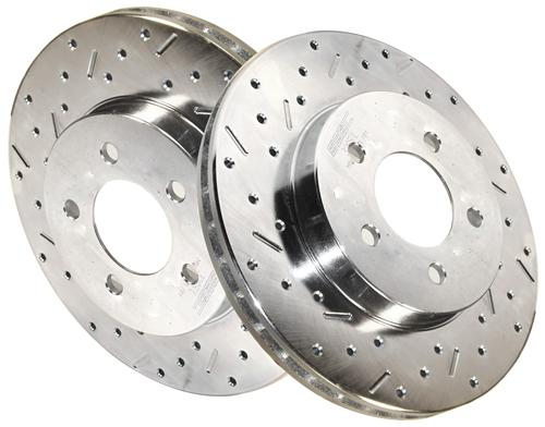 "94-04 MUSTANG GT/V6 ""BIG BITE"" FRONT BRAKE ROTOR PAIR"