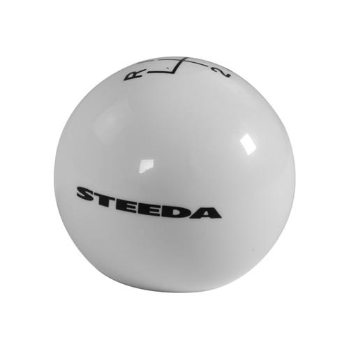 Steeda Mustang Shift Knob  - White (15-17) 203-E226ULSI20