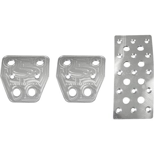 Steeda Mustang Aluminum Pedal Covers - Manual (05-14) 555-1157 - Steeda Mustang Aluminum Pedal Covers - Manual (05-14) 555-1157