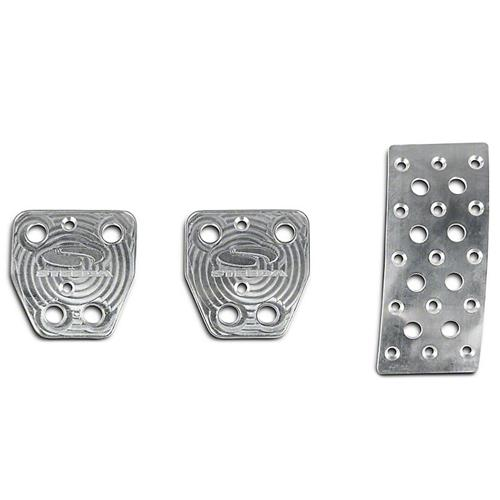 Steeda Mustang Aluminum Pedal Covers - Manual (15-16) 555-1270
