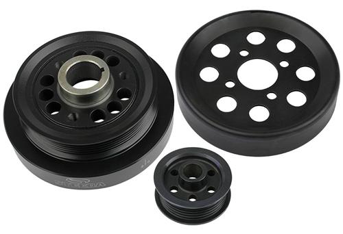 Steeda Mustang Underdrive Pulley Kit Black (01-04) Cobra-Mach 1 7010004