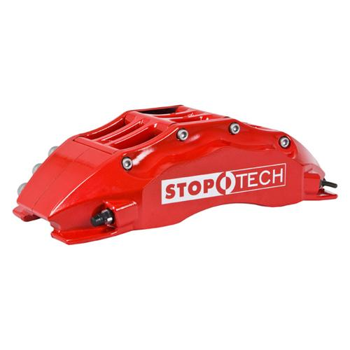 "StopTech Mustang 15"" Front Big Brake Kit w/ 6 Piston Calipers Red (07-14) 83.334.6800.71"