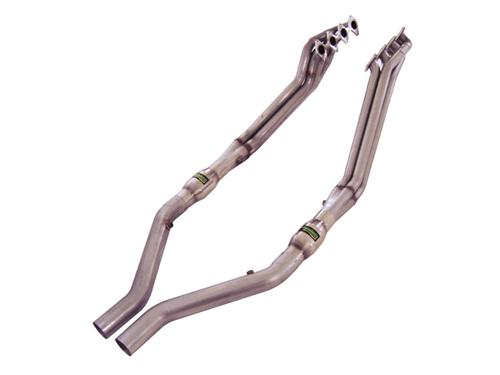 "Stainless Works Mustang Headers w/ 3"" High Flow Cats & Lead Pipes (05-10) GT M05H175"