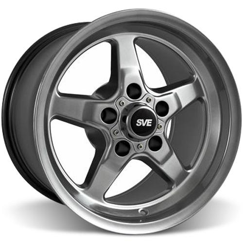 SVE Mustang Drag Wheel 15X10 Dark Stainless (05-14)