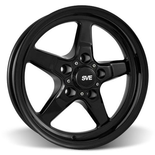 SVE Mustang Drag Wheel 15X3.75 Gloss Black (94-10) - SVE Mustang Drag Wheel 15X3.75 Gloss Black (94-10)