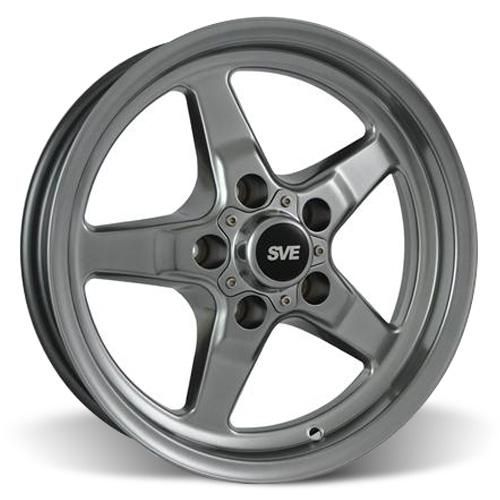 SVE Mustang Drag Wheel 15X3.75 Dark Stainless (94-10) - SVE Mustang Drag Wheel 15X3.75 Dark Stainless (94-10)