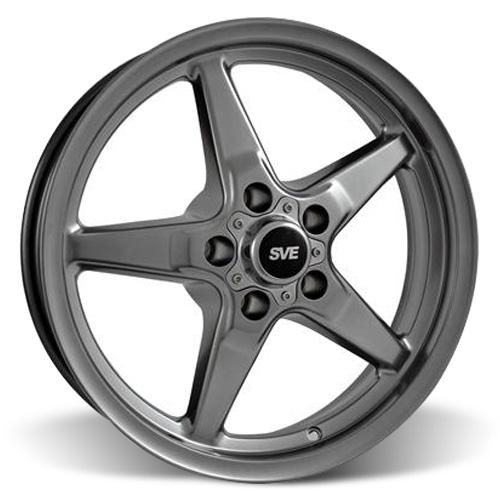 SVE Mustang Drag Wheel 17X4.5 Dark Stainless (94-14) - SVE Mustang Drag Wheel 17X4.5 Dark Stainless (94-14)