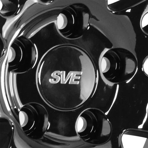 SVE Mustang Deep Dish Anniversary Wheel - 17x10 Black W/ Machined Lip (94-04)