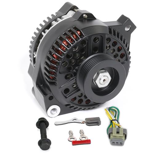 SVE Mustang 130 Amp Alternator Upgrade Kit  - Black (86-93) 5.0