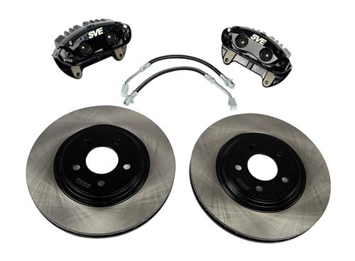 "SVE Mustang 13"" Cobra Style Front Brake Kit w/ Stock Rotors Black (94-04)"
