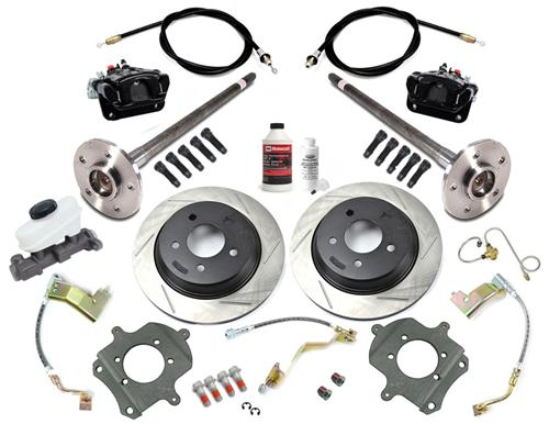 SVE Mustang 5-Lug Rear Disc Only Conversion Kit, 28 Spline Black (87-92)