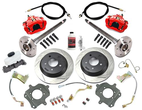 SVE Mustang 5-Lug Rear Disc Conversion Kit, 31 Spline Red (1993)