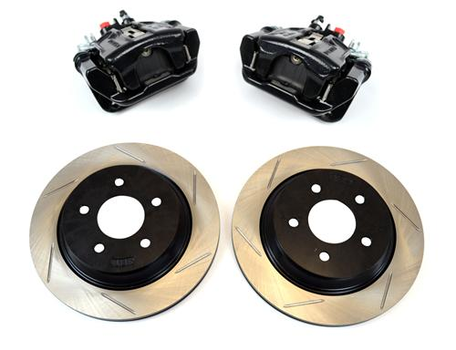 SVE Mustang Cobra Rear Brake Caliper & Rotor Kit Black (94-04)
