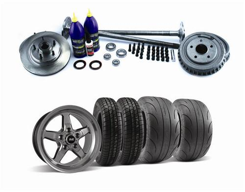 SVE 5 Lug Conversion w/ Drag Wheel & Tire Kit Dark Stainless 28 Spline