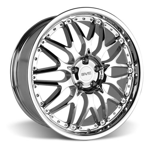 SVE Mustang Series 3 Wheel & Lug Nut Kit - 20x8.5/10 Chrome (05-14)