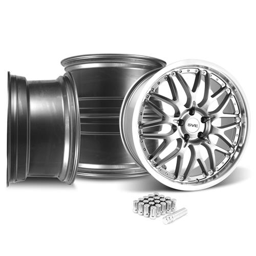 SVE Mustang Series 3 Wheel & Lug Nut Kit - 20x8.5/10 Gun Metal (05-14)