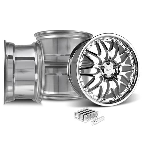 SVE Mustang Series 3 Wheel & Lug Nut Kit - 20x8.5 Chrome (15-16)