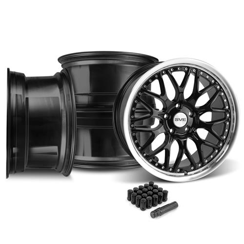 SVE Mustang Series 3 Wheel & Lug Nut Kit - 20x8.5 Gloss Black (05-14)