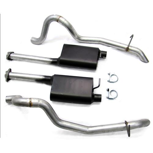 "SVE Mustang 2.5"" Off Road H-Pipe & Cat-Back Exhaust Kit (87-93) GT"