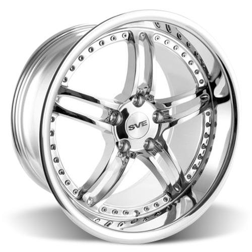 SVE Mustang Series 2 Wheel & Lug Nut Kit - 20x8.5/10 Chrome (15-16)