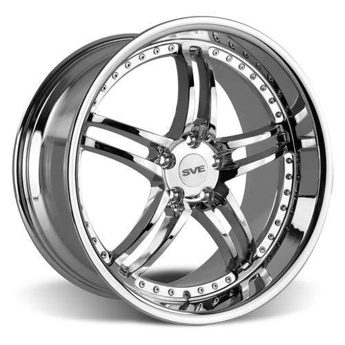 SVE Mustang Series 2 Wheel & Lug Nut Kit - 20X8.5/10 Chrome (05-14)