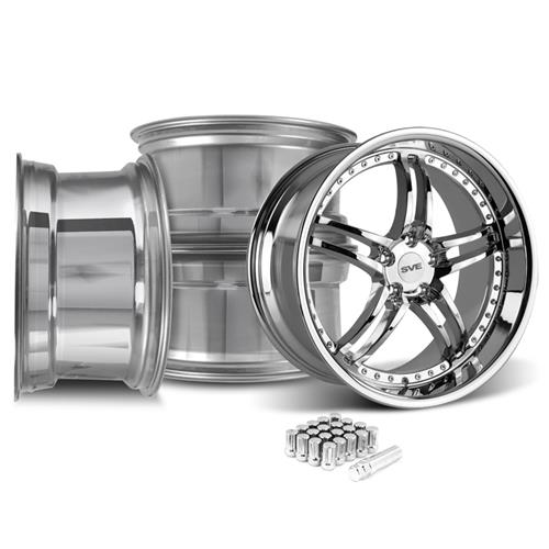 Mustang SVE Series 2 Wheel & Lug Nut Kit - 20X8.5/10 Chrome (05-14)