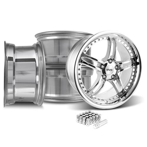 SVE Mustang Series 2 Wheel & Lug Nut Kit - 20x8.5 Chrome (05-14)