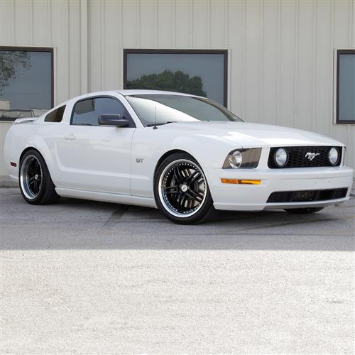 SVE Mustang Series 2 Wheel - 20x8.5 Black w/ Machined Lip (05-17)