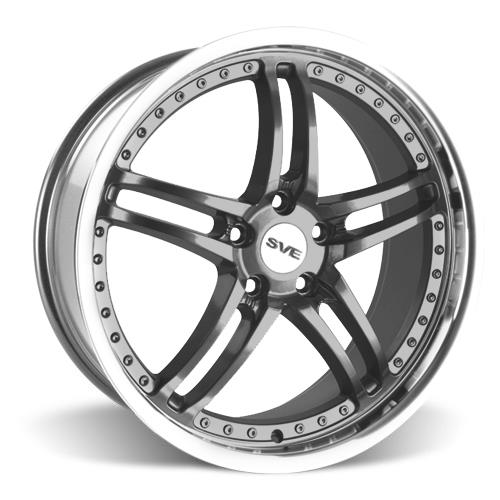 SVE Mustang Series 2 Wheel - 20x8.5 Gunmetal w/ Mirror Lip (05-16) - SVE Mustang Series 2 Wheel - 20x8.5 Gunmetal w/ Mirror Lip (05-16)