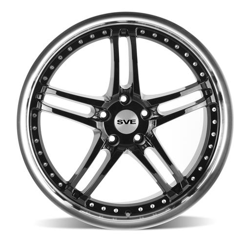 SVE Mustang Series 2 Wheel - 18x9 Black w/ Machined Lip (94-04)