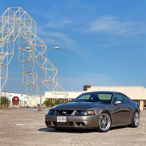 SVE Mustang Series 2 Wheel Kit -18x9/10 Gunmetal w/ Polished Lip (94-04)