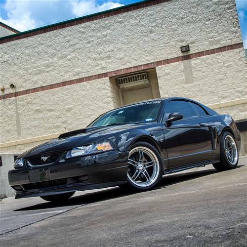 SVE Mustang Series 2 Wheel Kit -18x9/10 Gun Metal w/ Machined Lip (94-04)