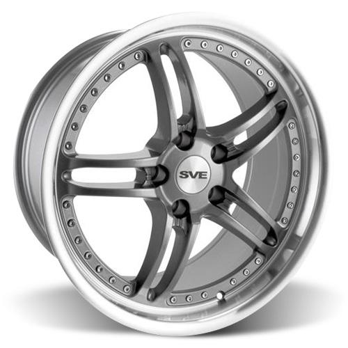 "SVE Mustang Series 2 Wheel - 19x9"" Gun Metal w/ Polished Lip (05-15)"