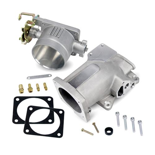 SVE Mustang 75mm Throttle Body & Plenum Kit Satin (96-04)