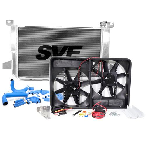 SVE F-150 SVT Lightning Aluminum Radiator, Fan & Hose Kit (93-95)