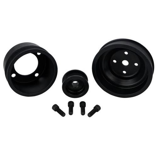 SVE Mustang Aluminum Underdrive Pulley Kit Black (79-93) GT 5.0L