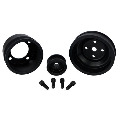 SVE  Mustang Underdrive Pulley & Gatorback Belt Kit  Black (87-93) 5.0