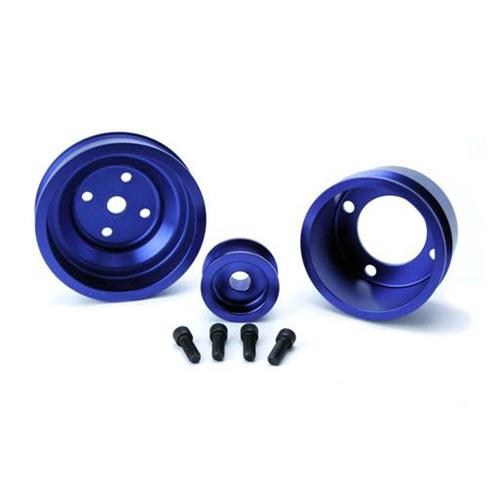 SVE Mustang Underdrive Pulley & Gatorback Belt Kit  Blue (87-93)