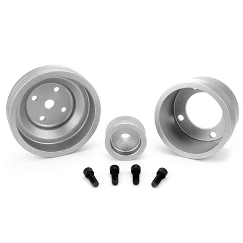 SVE Mustang Underdrive Pulley & Gatorback Belt Kit  Clear Anodized (87-93)
